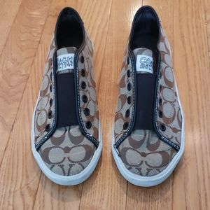 Classic Coach slip on sneakers